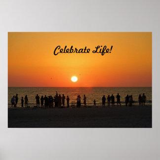 Célébrez l'affiche de la vie poster