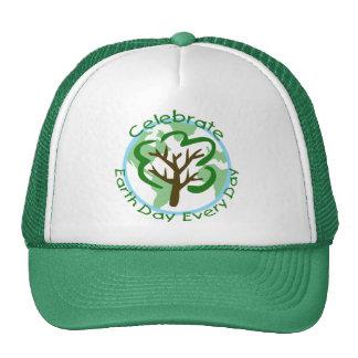 Célébrez le jour de la terre chaque chapeau de cam casquettes de camionneur