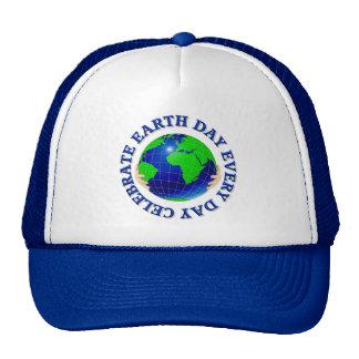 Célébrez le jour de la terre chaque chapeau de jou casquettes de camionneur