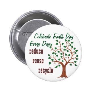 Célébrez le jour de la terre - Pin personnalisable Badges