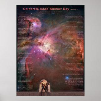 Célébrez le jour d'Isaac Asimov Posters