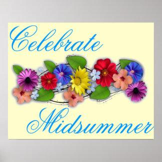 Célébrez le milieu de l été posters