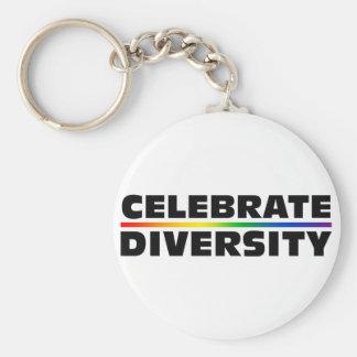 Célébrez le porte - clé de diversité porte-clé rond