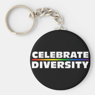 Célébrez le porte - clé noir de diversité porte-clés