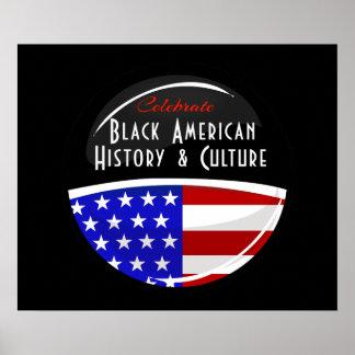 Célébrez l'emblème brillant d'histoire américaine posters