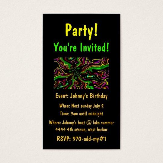Célébrez les cartes d'invitation de partie