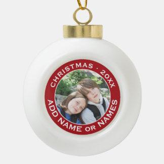 Célébrez Noël avec votre photo préférée Boule En Céramique