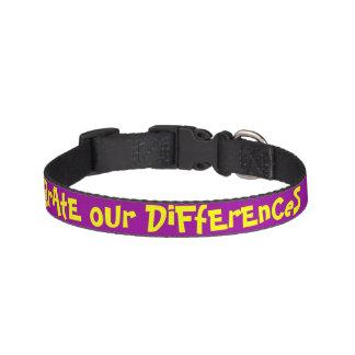 Célébrez notre collier de chien de différences