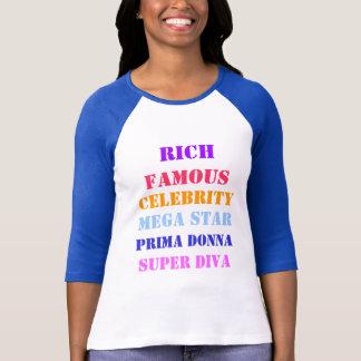 Célébrité célèbre de riches t-shirt