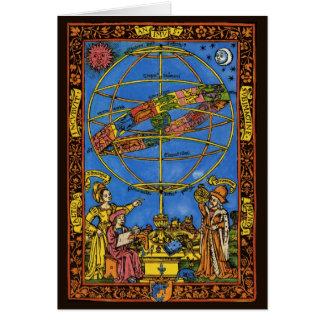 Céleste vintage, astronome Claudius Ptolémée Cartes