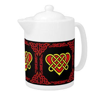 Celtic de Scotalnd/or/coeur tressé rouge, 3, noirs