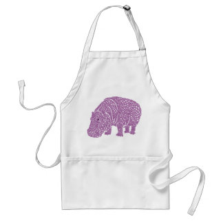 Celtic Knotwork hippo apron. Tablier