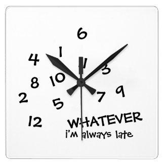 CELUI QUE je sois toujours horloge murale en