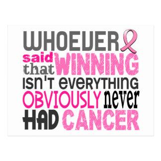 Celui qui a dit le cancer du sein carte postale