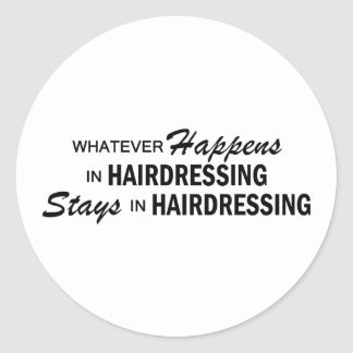 Celui qui se produise - coiffure adhésifs ronds