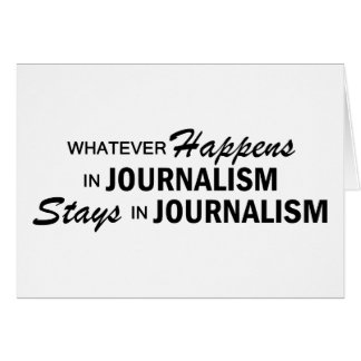 Celui qui se produise - journalisme carte de vœux