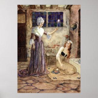 Cendrillon et marraine gâteau - Millicent Sowerby Poster
