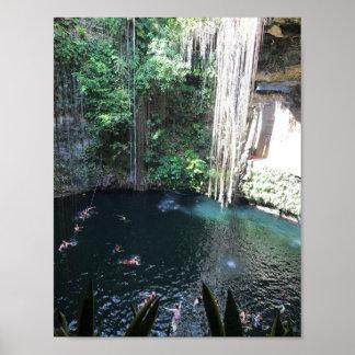 Cenote bleu sacré, Ik Kil, affiche du Mexique #2 Posters
