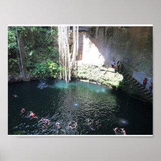 Cenote bleu sacré, Ik Kil, affiche du Mexique #4 Posters