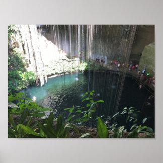 Cenote bleu sacré, Ik Kil, affiche du Mexique Posters