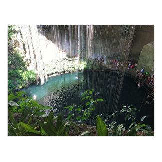 Cenote bleu sacré, Ik Kil, carte postale du
