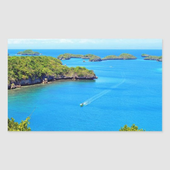 Cent îles sticker rectangulaire