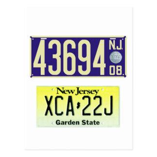 Centennial de plaque minéralogique de New Jersey Cartes Postales