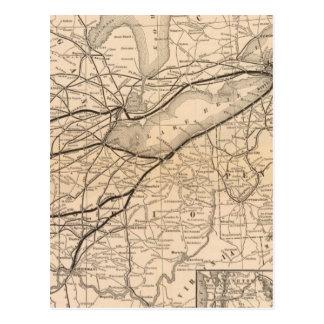 Central de New York de carte et chemin de fer du