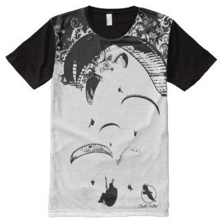 Central du PARAPENTISTE PG-21 Ponto T-shirt Tout Imprimé