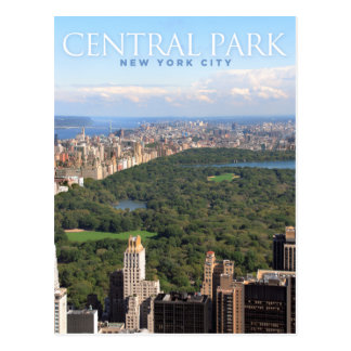 Central Park à New York Carte Postale