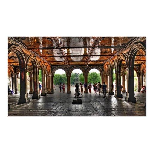 """Central Park """"de terrasse de Bethesda"""", NY Carte De Visite"""