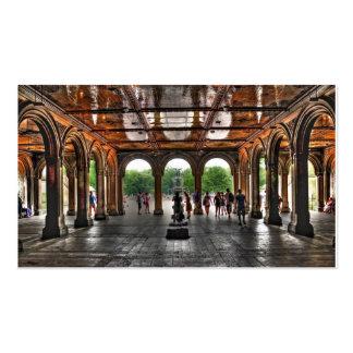 """Central Park """"de terrasse de Bethesda"""", NY Carte De Visite Standard"""