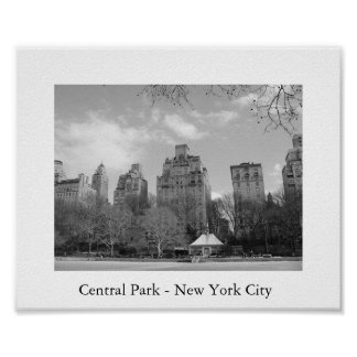 Central Park - New York City Affiches
