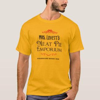 Centre commercial de tourte à la viande de Mme T-shirt
