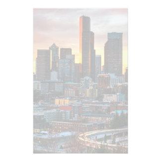 Centre de Colombie et Seattle du centre, Seattle Motifs Pour Papier À Lettre