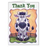 Centre de partie de vache carte de vœux