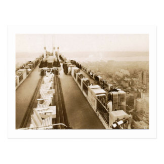 Centre de Rockefeller, dessus de toit, cru de New Carte Postale