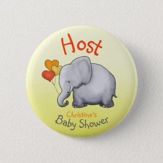 Centre serveur mignon de baby shower d'éléphant de pin's