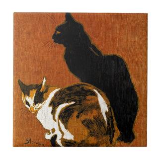 Céramique de chats de Steinlen Petit Carreau Carré