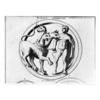 Cerberus a apprivoisé par Hercule Carte Postale