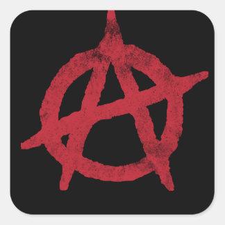 Cercle A d'anarchie Sticker Carré