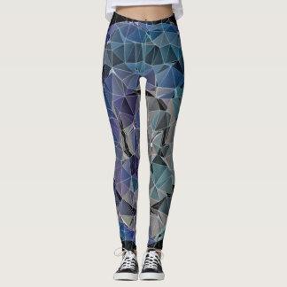 cercle abstrait de mosaïque leggings