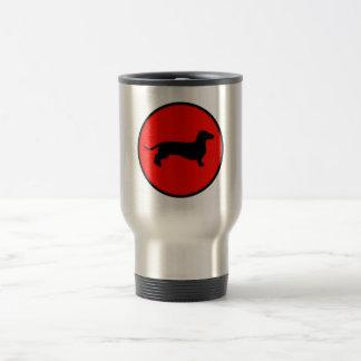 cercle arrière de doxie mug de voyage