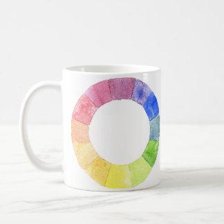 Cercle coloré moderne d'anneau d'aquarelle mug