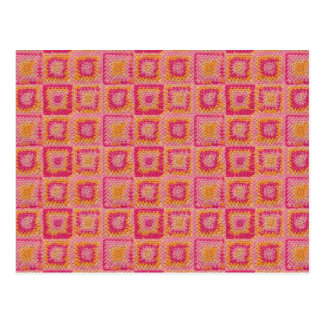 Cercle dans une carte postale carrée de carré de