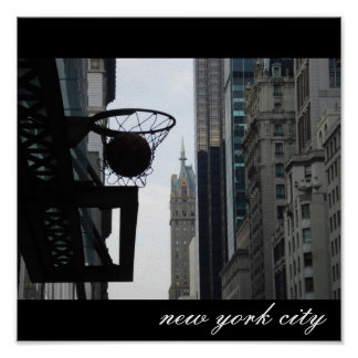 Cercle de basket-ball à New York City. Posters