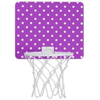 Cercle de basket-ball foncé de point de polka mini-panier de basket