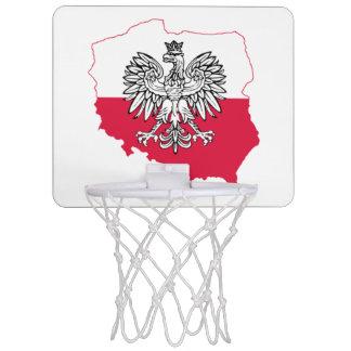 Cercle de basket-ball polonais de drapeau de carte mini-panier de basket