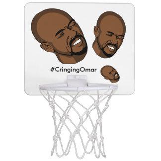 Cercle de basket-ball se tapissant d'Omar Mini-panier De Basket