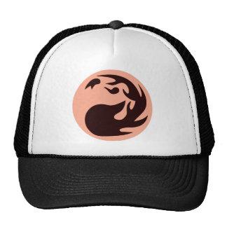 Cercle de boule de feu casquettes